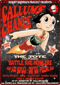 Callum's Chance Gig Poster