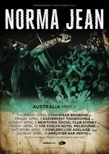 Norma Jean Australian Tour