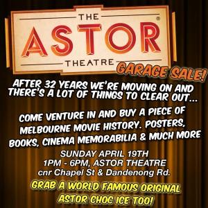 The Astor Garage Sale