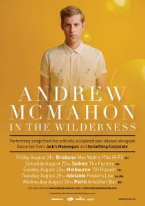 Andrew McMahon Tour Poster