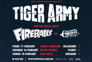 Tiger Army Tour Info