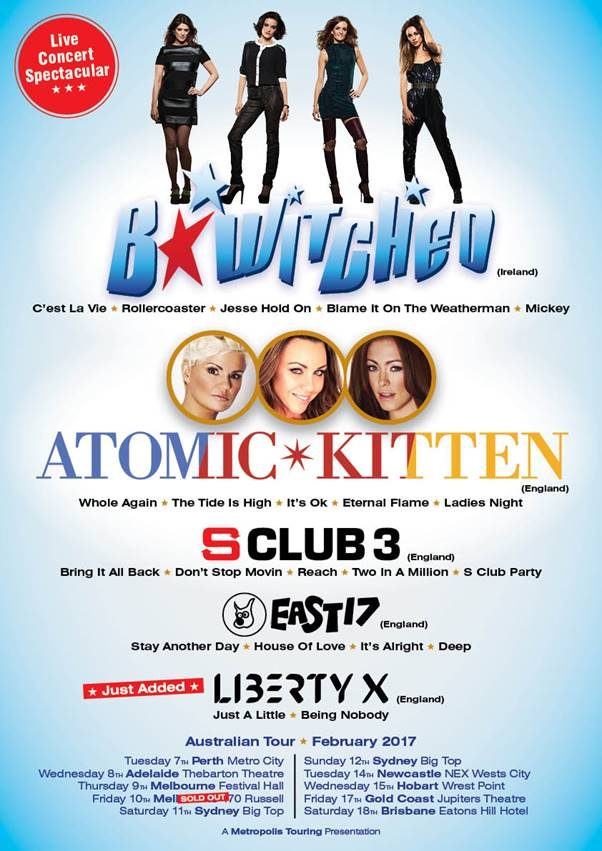 Atomic Kitten Tour Info