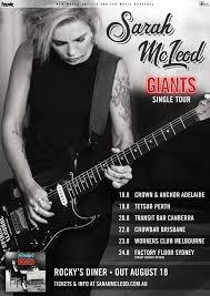 Sarah McLeod Tour