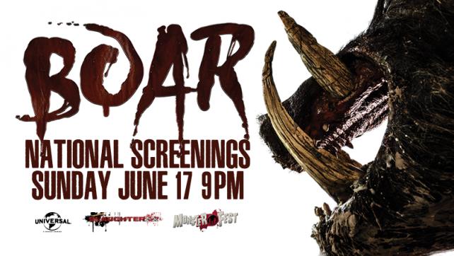[FILM NEWS] MONSTER FEST Announces BOAR Screenings